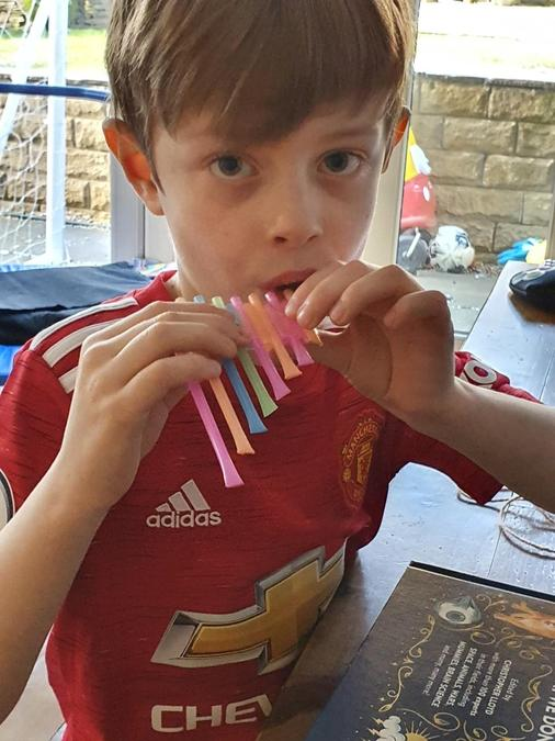 William's colourful pan pipes!