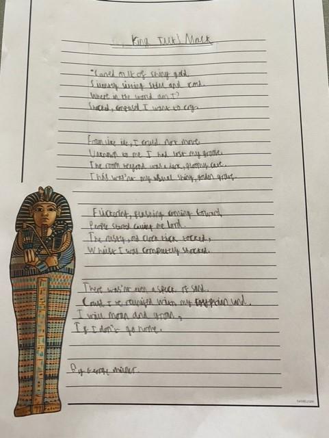 George's great take on the Tutankhamun poem