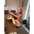 Neve has been doing some baking in her free time! Yummy!