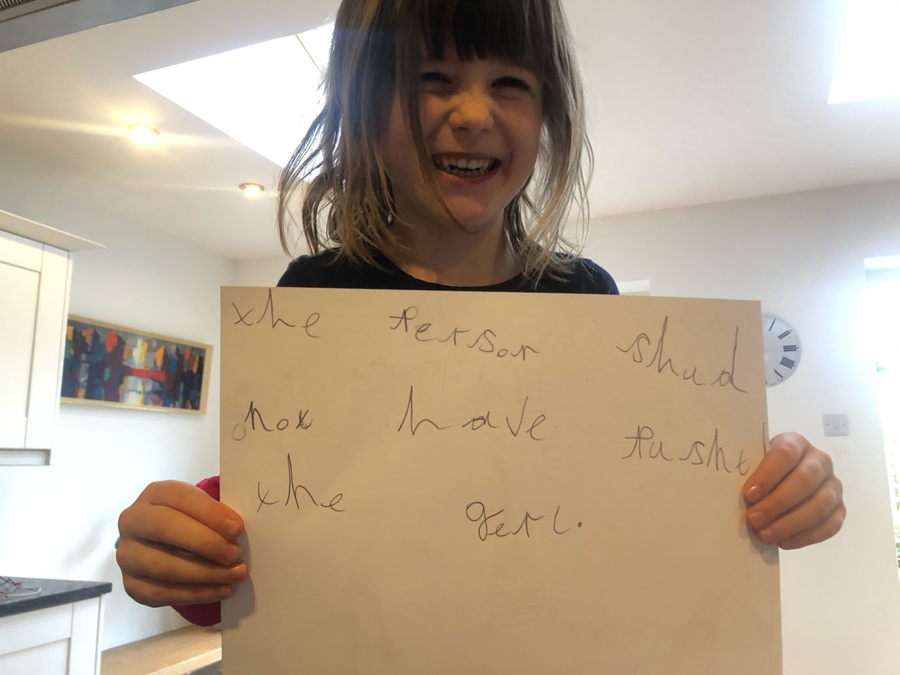 Fabulous handwriting Grace!
