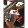 Elizabeth working on her Greek God factfile.