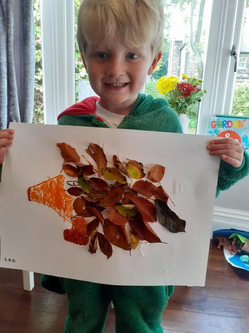 A super autumn hedgehog by Leo
