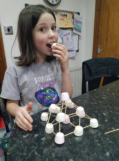 Mathilde's marshmallow pyramid!