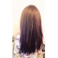 Tissue paper hair dye- cool hair Lucy!