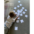 Henry chilled out with a 2-syllable jigsaw puzzle.
