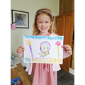 Annabelle has followed a drawing tutorial- ROAR!