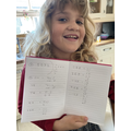 Amazing maths work by Lily!