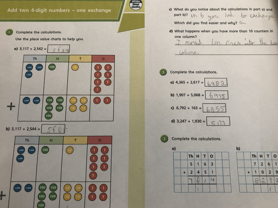 Super maths work by Lily