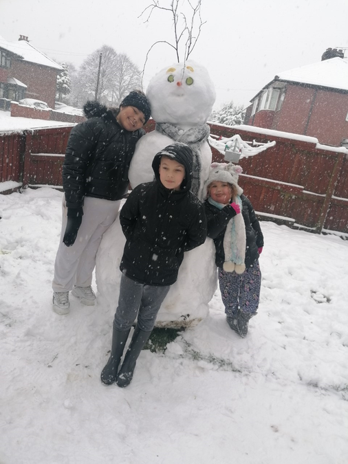The Brown's Snowman!