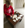 Noah has been making a new card game