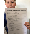 Leo's Jack and the Beanstalk comprehension.