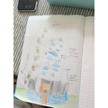 Sophia's labelled castle drawing- amazing!