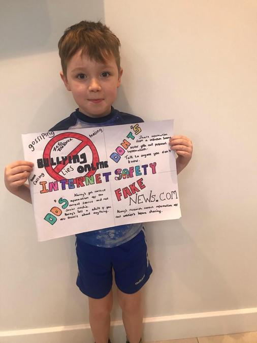 Lyle's fabulous Safer Internet Day poster!