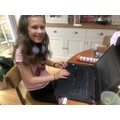 Sophia has been creating quizzes.