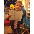 Max's super handwriting!