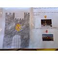 Thea's castle topic work- fabulous!