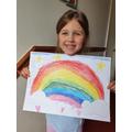 Eadie drew a beautiful rainbow.