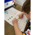 Harrison has been busy working on his maths.