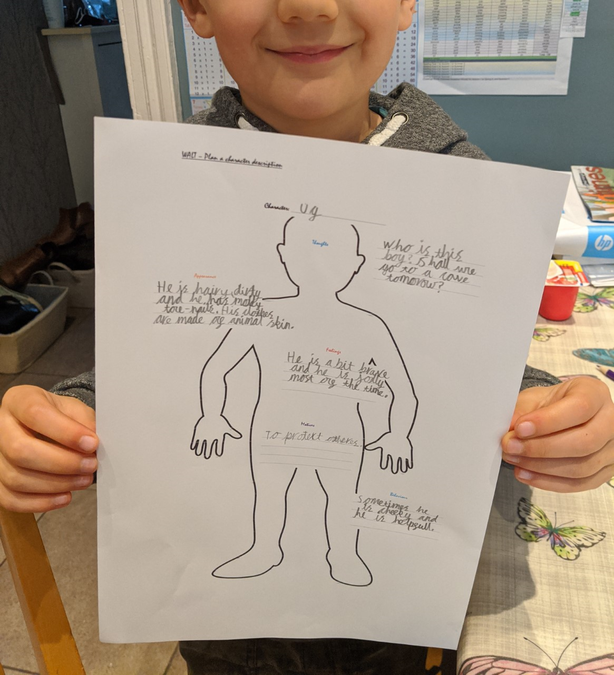 Matthew's creative character description!