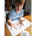 Eddie's practicing his Maths