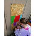 Addison creating a masterpiece!