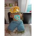 Meet Mr Pepper, Isaac's scarecrow.