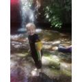 Isaac has been having fun outdoors.