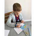 George designed a special postcard for his Nana.