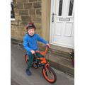 Oliver has enjoyed perfecting his bike skills.