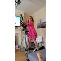 Addison keeping fit & exercising!