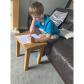 Charlie concentrating and working hard!