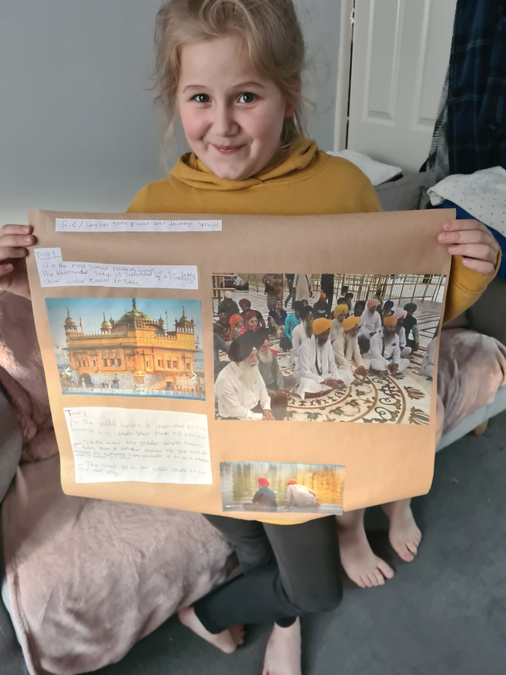 Maisie's fantastic work on the Golden Temple
