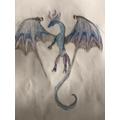 Harry drew an amazing dragon.