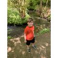 Harrison on a nature walk.