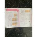 Zane fantastic maths work