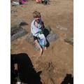 Isaac had fun in the sun on Filey beach ...