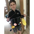 Isaac's enjoying Science Week!