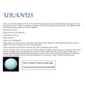 Lewis' Uranus Fact File