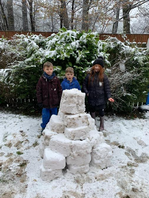 Albi's huge snow pyramid!