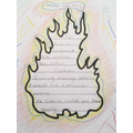 Jessica's fantastic fire poem.