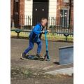 Noah's super scootering