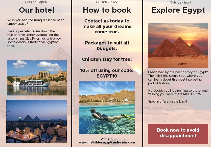 Matilde's exceptional Egypt leaflet part 1...