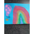 Eadie painted a super hot air balloon picture.