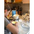 Oscar busy baking