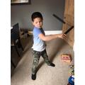 Oliver has been working on his Ninja skills!