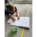 Harrison has been a STEM whizz with his catapult!