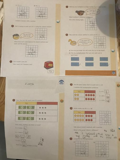 Luca's independent Maths learning