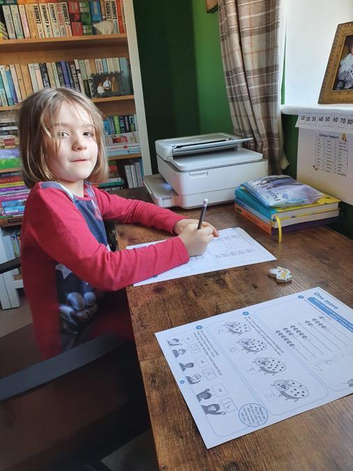 Eva's maths work!
