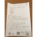 George wrote instructions for planting pepper seed