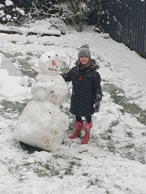 Neve has had fun in the snow!